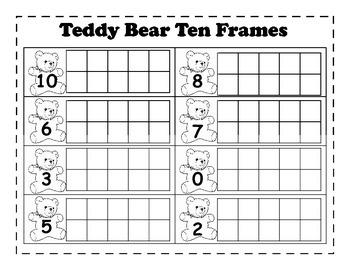 Teddy Bear Ten Frames