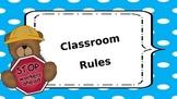Teddy Bear Theme Classroom Rules