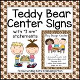 Teddy Bear Themed Center Signs