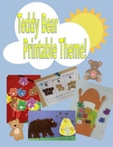 Teddy Bear Themed Math and Reading Activities, Crafts, and