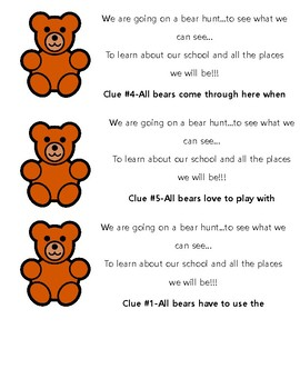 Teddy Bear Tour of School