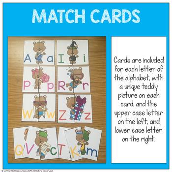 Teddy Bear Upper and Lower Case Alphabet Match Cards