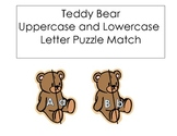 Teddy Bear Uppercase and Lowercase Letter Matching Common Core