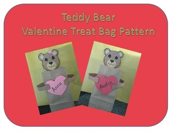 Teddy Bear Valentine Treat Bag Pattern