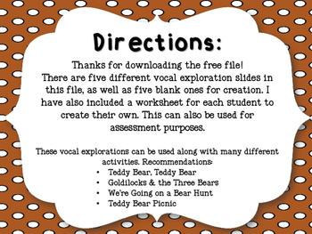 Teddy Bear Vocal Explorations