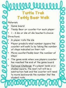 Teddy Bear Walk/Turtle Trek