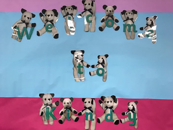 Teddy Bear Welcome Sign