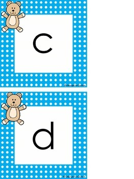 Teddy Bear Word Wall Letters and First 100 Fry Words -freebie
