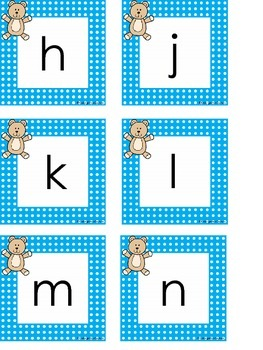 Teddy Bear Word Wall Letters and First 50 Fry Words