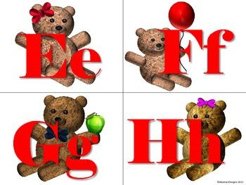 Teddy Bear Word Wall Tags