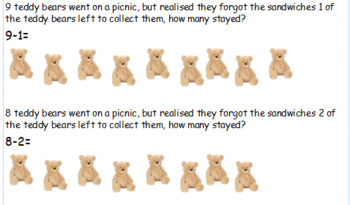 Teddy Bear story subtraction