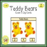 Teddy Bears Count and Clip Task Cards