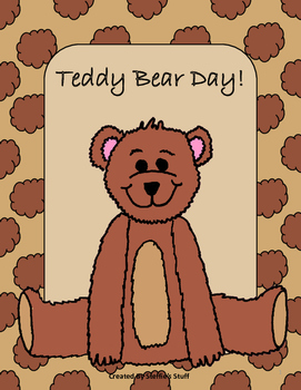 No Prep Teddy Bear's Holiday with Writing, Math, reading and Art