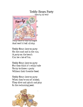 Teddy Bears Love to Party Poem