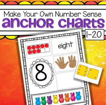 Teddy Bears Number Sense Anchor Charts 1-20