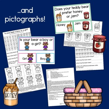 Teddy Bears' Picnic Bundle (Graphs, Patterns, Counting, Sequencing & Reading)