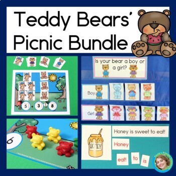 Teddy Bears' Picnic Bundle (Graphs, Patterns, Counting, Se
