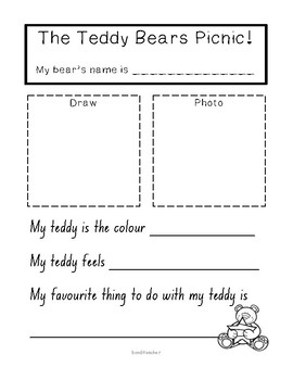 Teddy Bears Picnic Writing Template