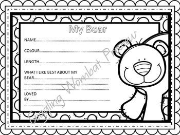 Teddy Bears Math and Literacy Activities