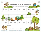 R-Controlled Vowels Teddy Bear's are, air, ear, and ere Words Picnic (RF.2.3)