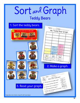 Teddy Bears Sort, Pattern, Graph