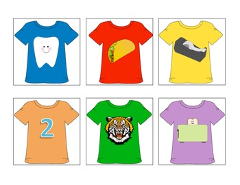 Teddy Bear's T-Shirts - Letter T Beginning Sound Sort