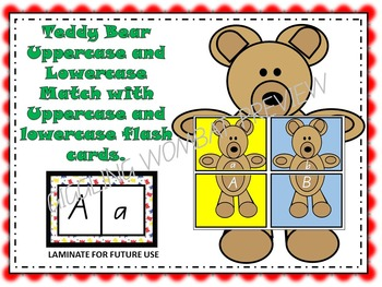 Teddy Bear Uppercase and Lowercase Letter Match