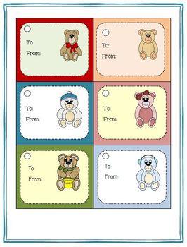 Writing Paper Templates - Teddy Bear Theme