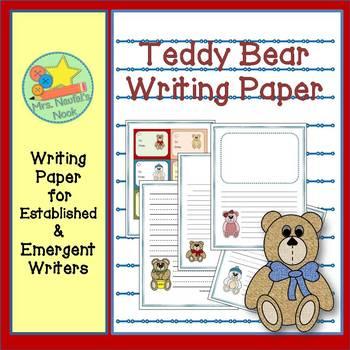 Writing Paper Teddy Bears