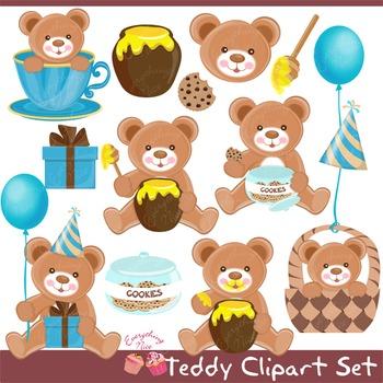 Teddy Clip Art Set