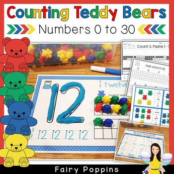 Teddy Counting Mats (Numbers 0-20)