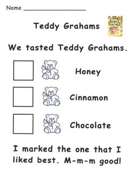 Teddy Graham Tasting Recording Page
