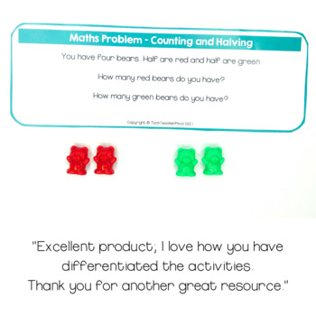 Teddy Math Problem Solving Cards for Patterning Addition Subtraction Counting
