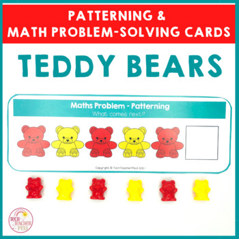 Teddy Math Problem Solving Cards for Patterning Addition S