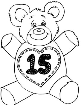 Teddy Numbers Coloring Pages