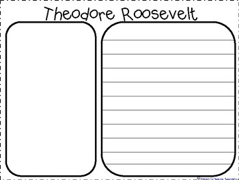 Teddy Roosevelt-Great American Activities