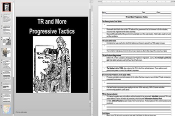 Teddy Roosevelt the Anthracite Coal Strike, Railroad & Civil Rights PPT & Notes