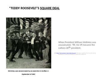 Teddy Roosevelt's Presidency and Progressivism Bundle