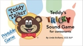 Teddy's Tricky Sound Free Printable Game for Consonants