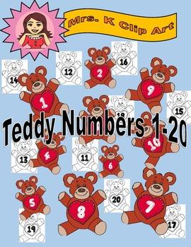 Teddy numbers 1-20