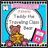 Editable Teddy the Traveling Class Bear