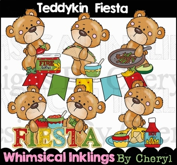 Teddykins Fiesta Clipart Collection