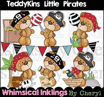 Teddykins Little Pirates Clipart Collection