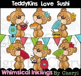 Teddykins Love Sushi Clipart Collection
