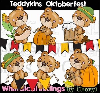 Teddykins Oktoberfest Clipart Collection