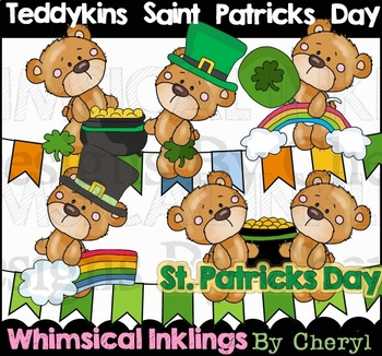 Teddykins Saint Patricks Day Clipart Collection