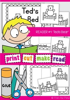 Ted's Bed Printable Reader - Print Cut Make and READ