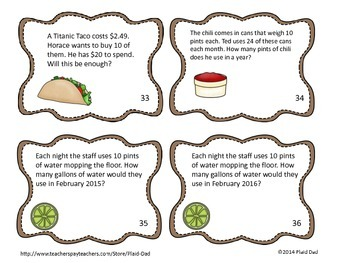 Ted's Terribly Tasty Tacos Task Cards