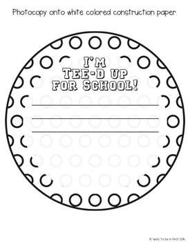 Tee'd Up for School {Back to School & End of the Year Craftivity}