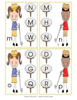 Tee-ed Off Alphabet Clip Cards